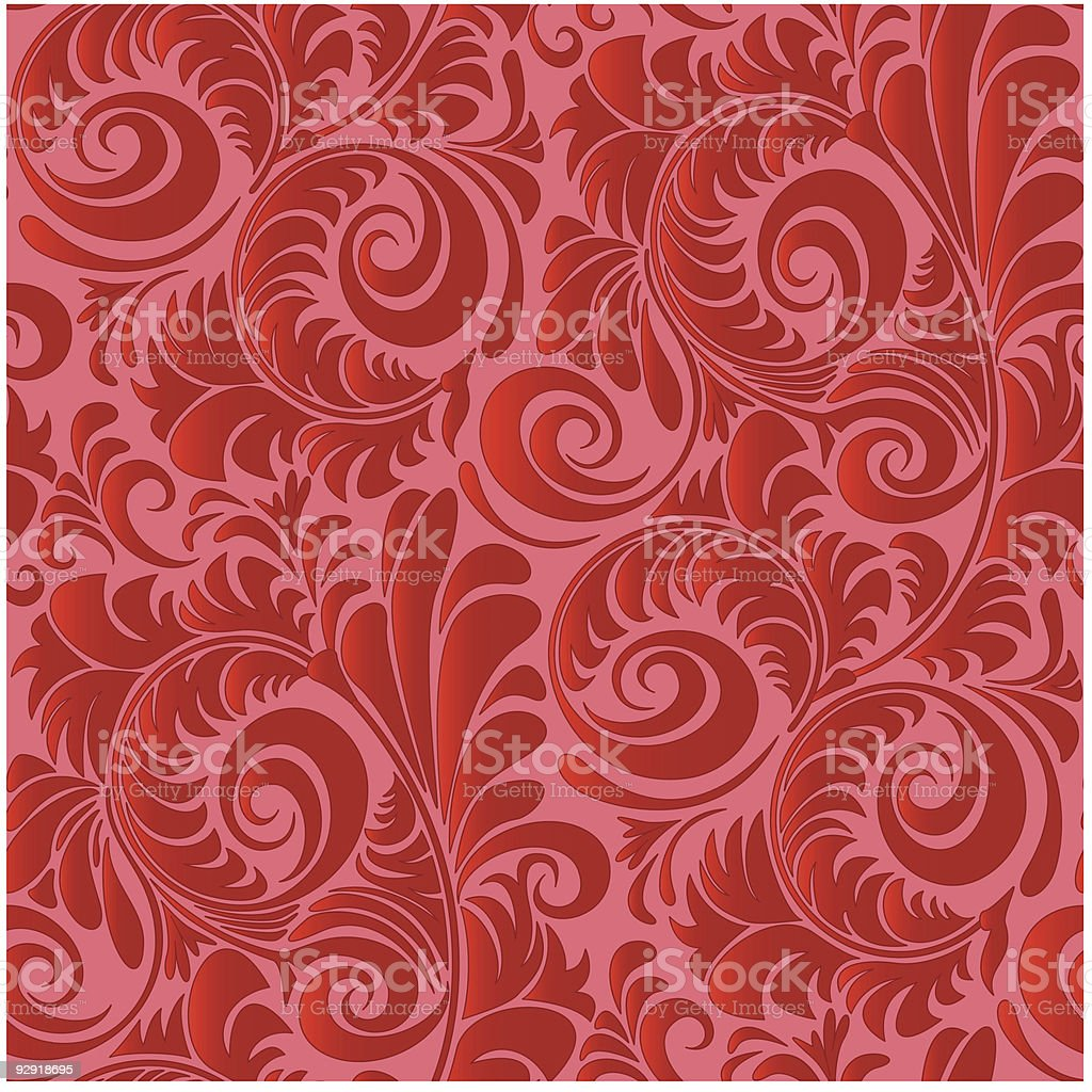 Seamless Vintage Wallpaper Pattern royalty-free stock vector art
