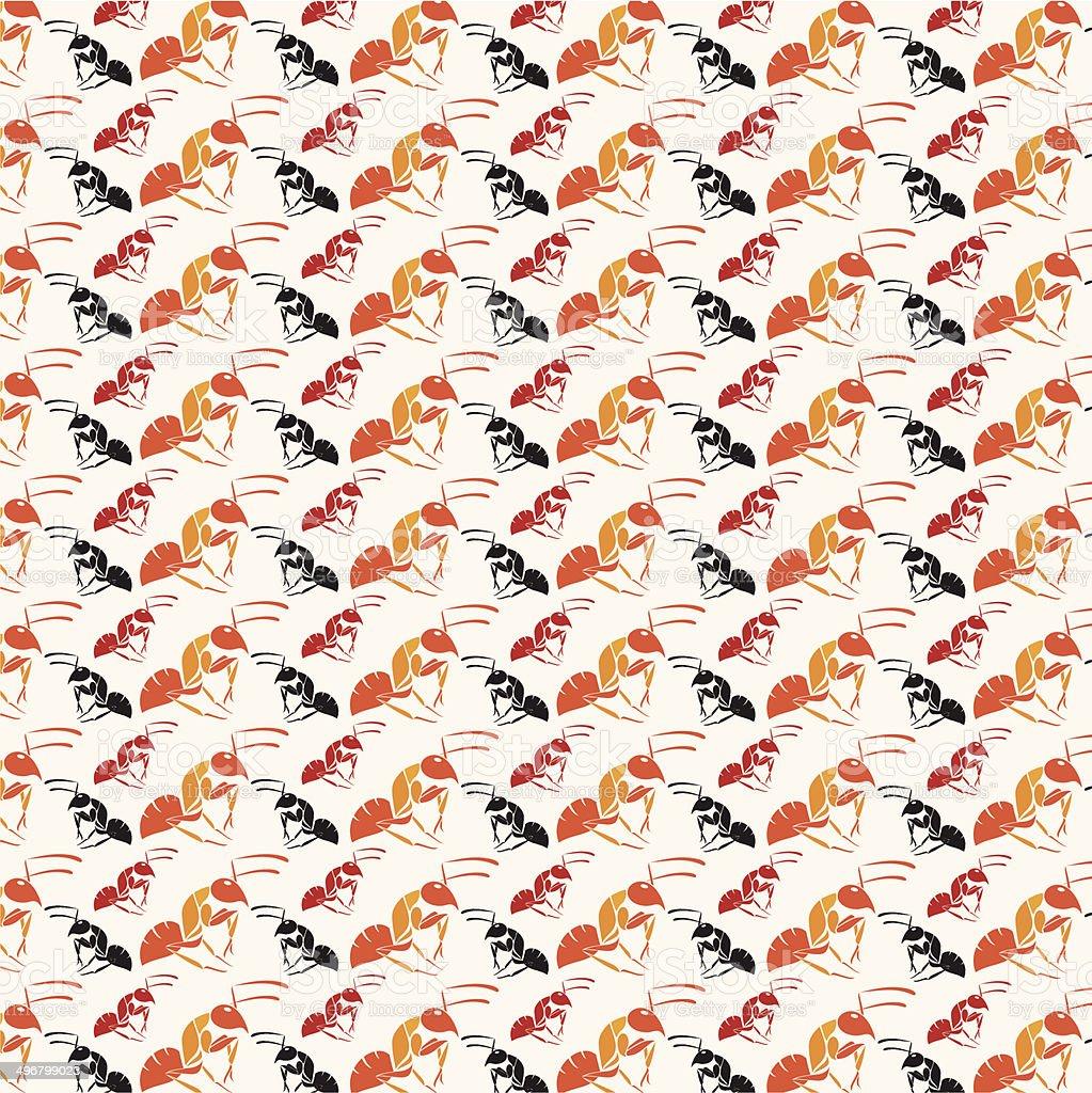 Seamless wallpaper ant. royalty-free stock vector art