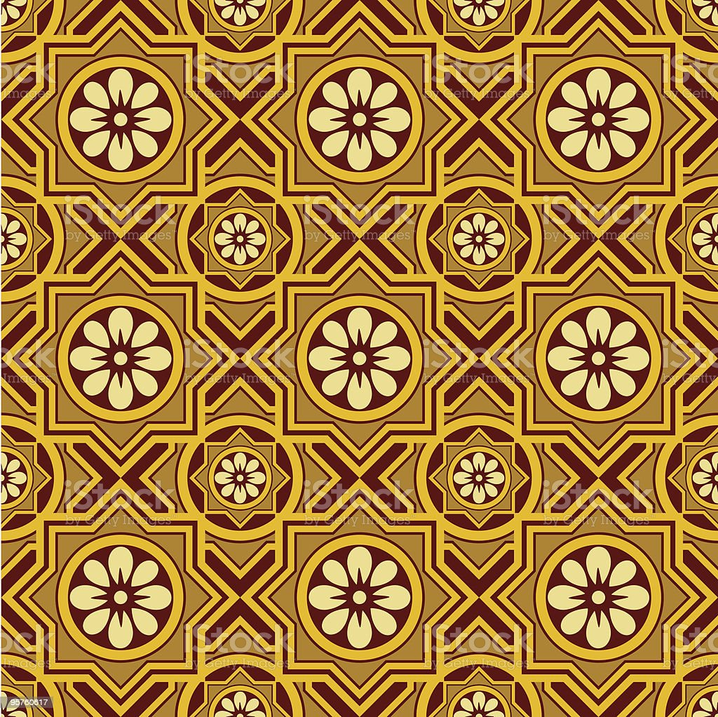 Seamless Wallpaper Background Tile royalty-free stock vector art