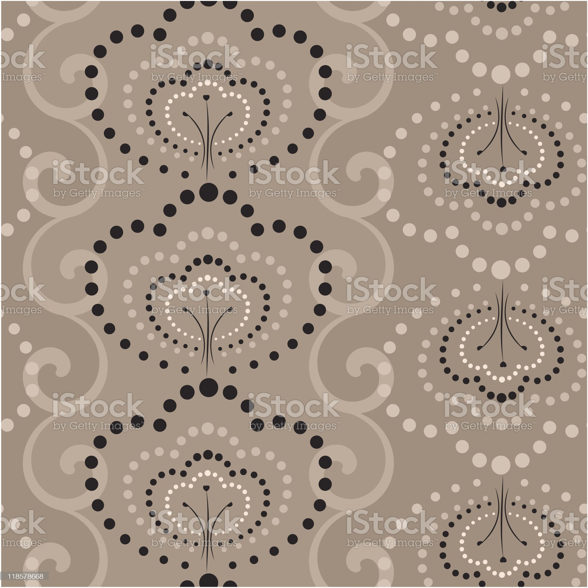 Seamless wallpaper in coffe colors royalty-free stock vector art