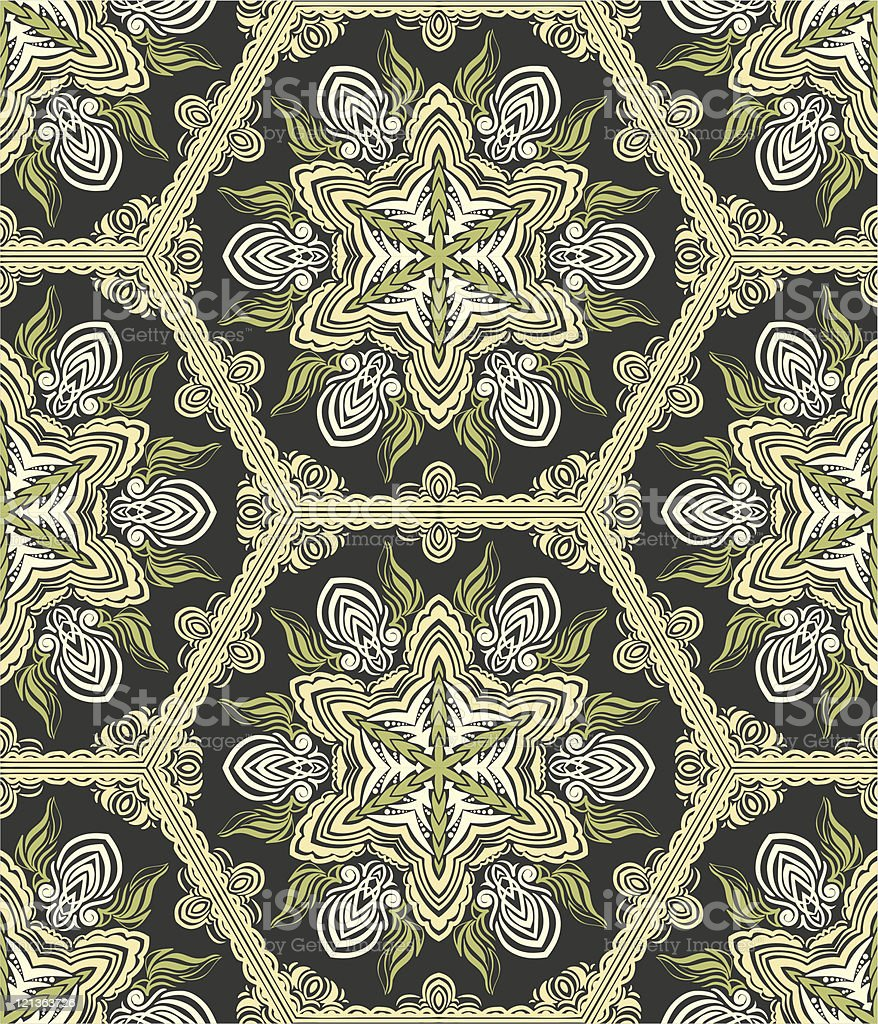 Seamless wallpaper in retro style royalty-free stock vector art