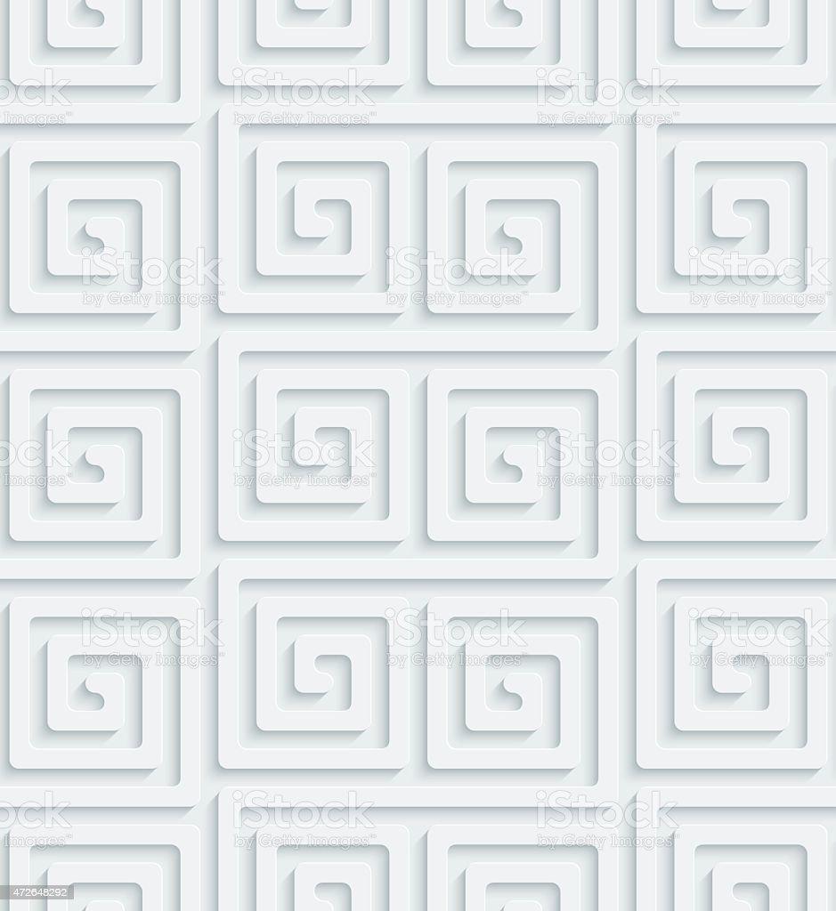 3D Seamless Wallpaper Pattern. vector art illustration