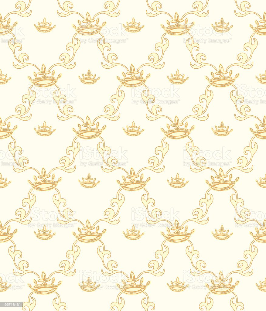 Seamless Wallpaper Pattern royalty-free stock vector art