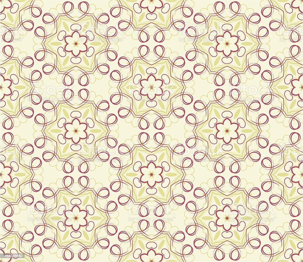 Seamless wallpaper with floral ornament royalty-free stock vector art