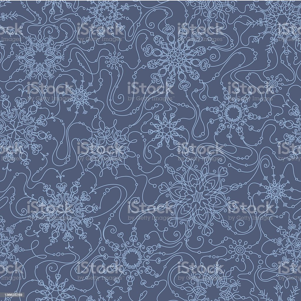 Seamless wallpaper with snowflakes royalty-free stock vector art