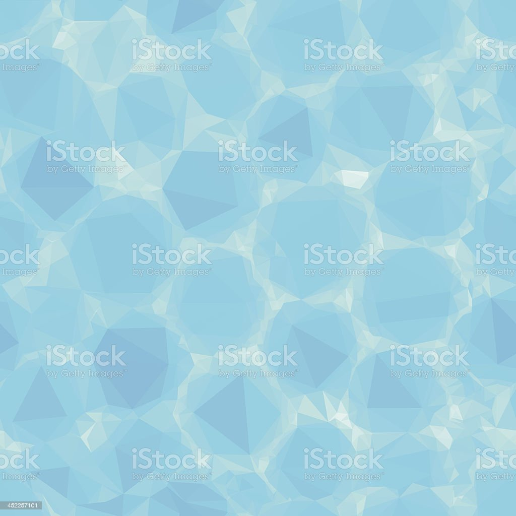 Seamless water bubbles in triangle shapes royalty-free stock vector art