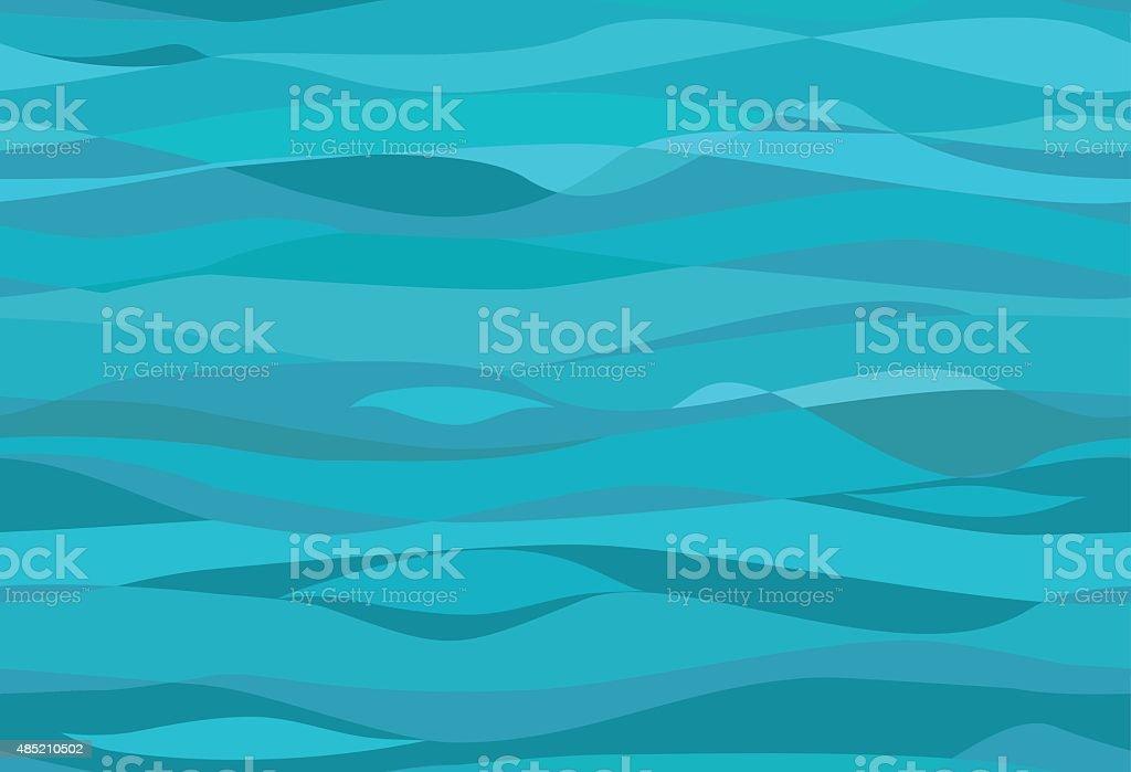 Seamless water pattern vector art illustration