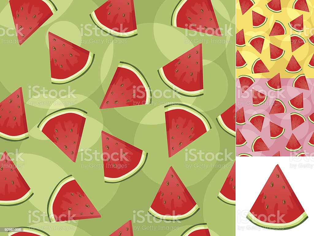 Seamless watermelon backgrounds royalty-free stock vector art
