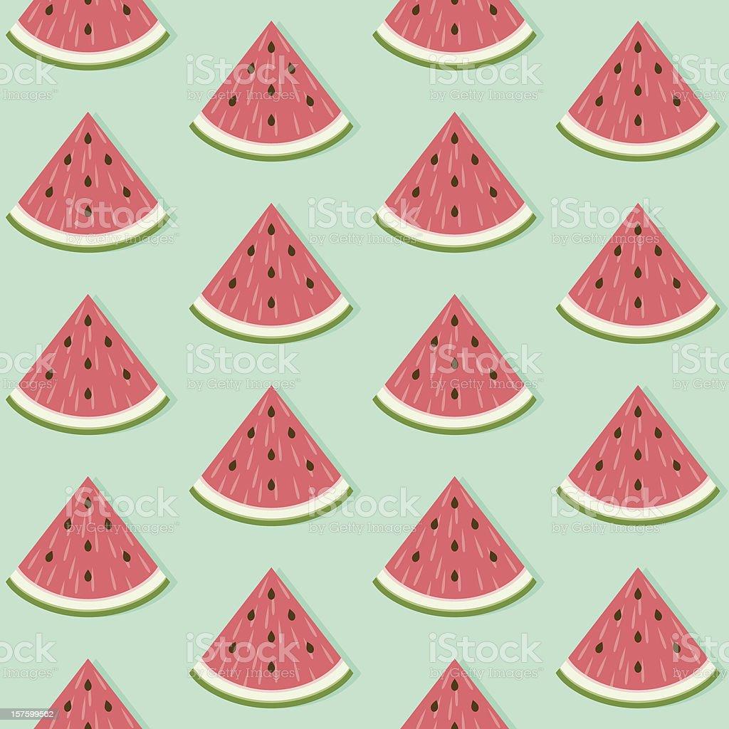 Seamless Watermelon Slice Pattern vector art illustration