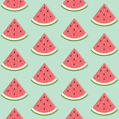 Seamless Watermelon Slice Pattern