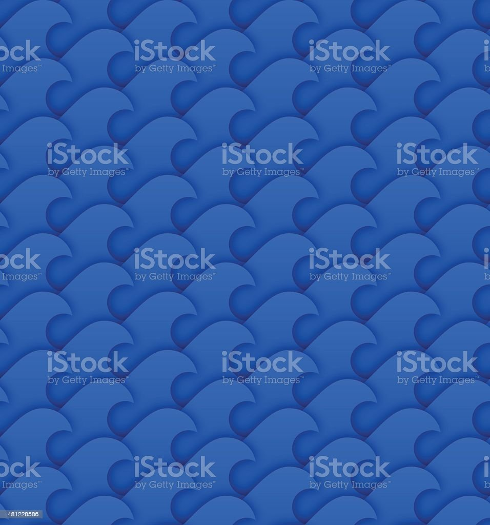 Seamless Wave Background vector art illustration