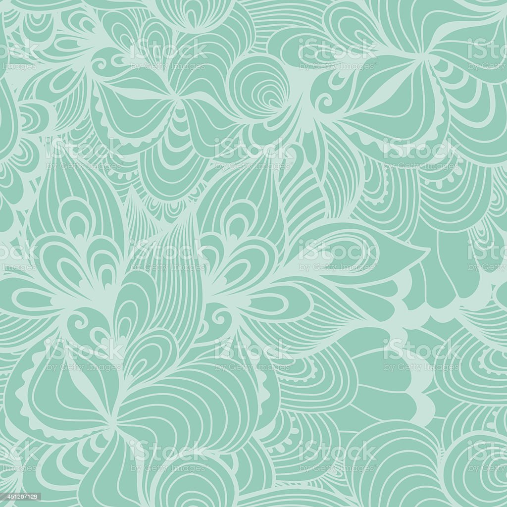 Seamless wave hand-drawn pattern royalty-free stock vector art