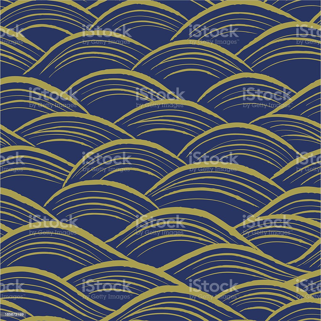 Seamless Wave Pattern royalty-free stock vector art