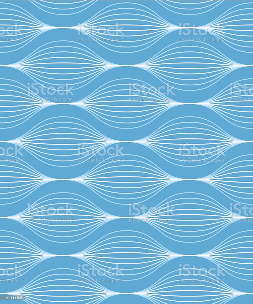 seamless wave pattern vector art illustration