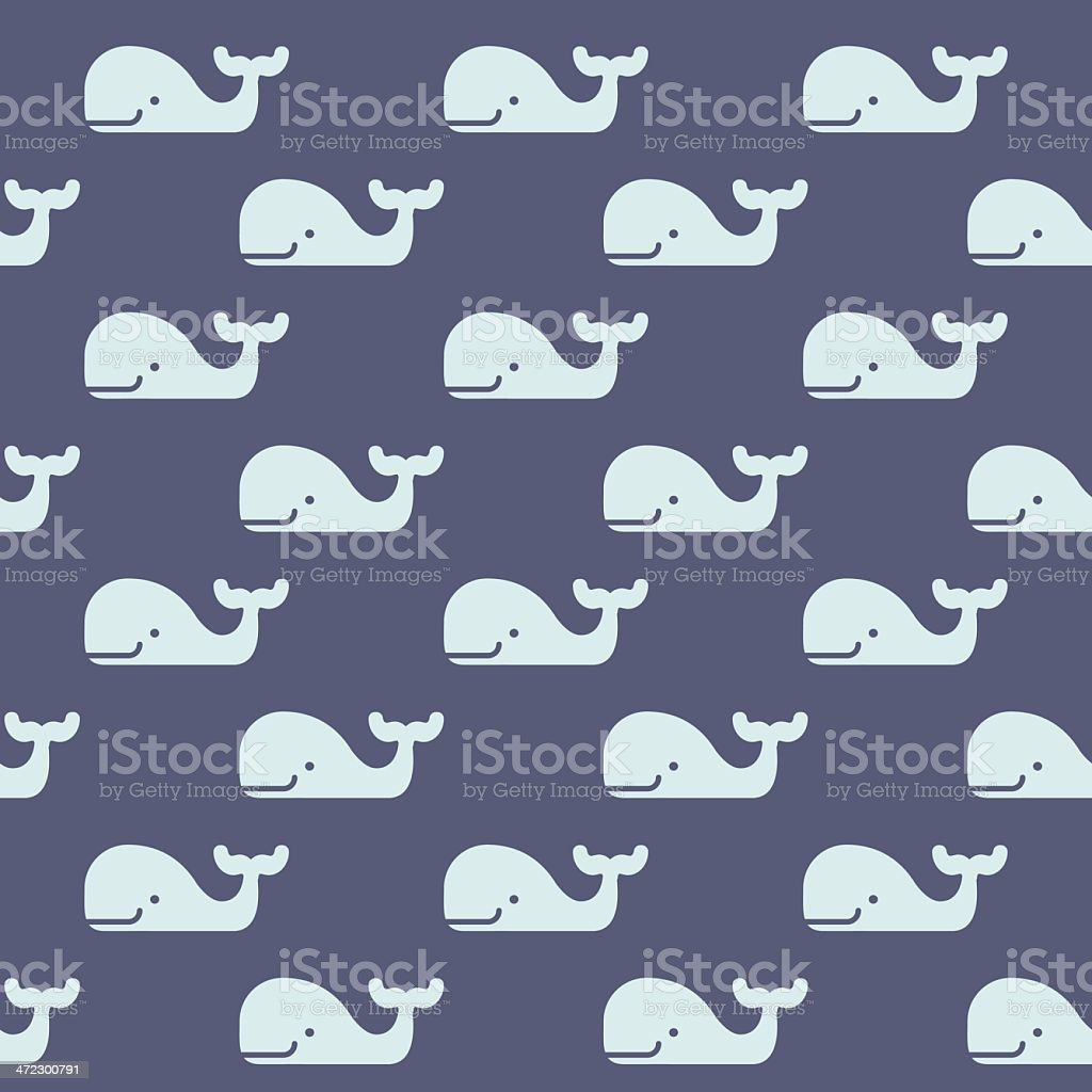 Seamless Whale Pattern royalty-free stock vector art