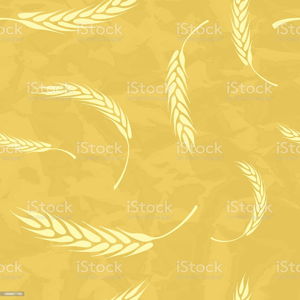 Seamless Wheat background royalty-free stock vector art