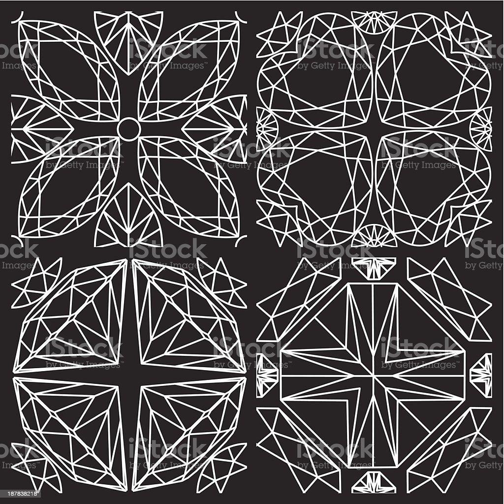 Seamless white pattern royalty-free stock vector art