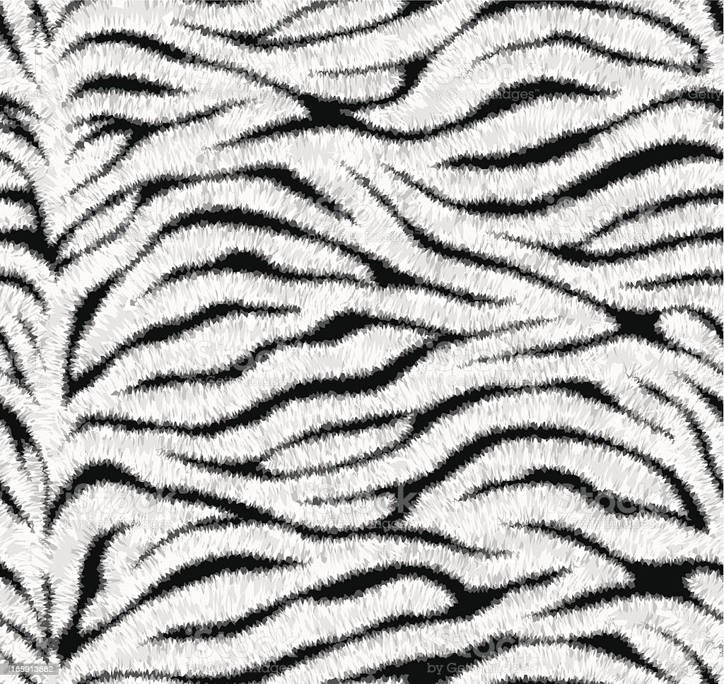 Seamless white tiger skin pattern vector art illustration
