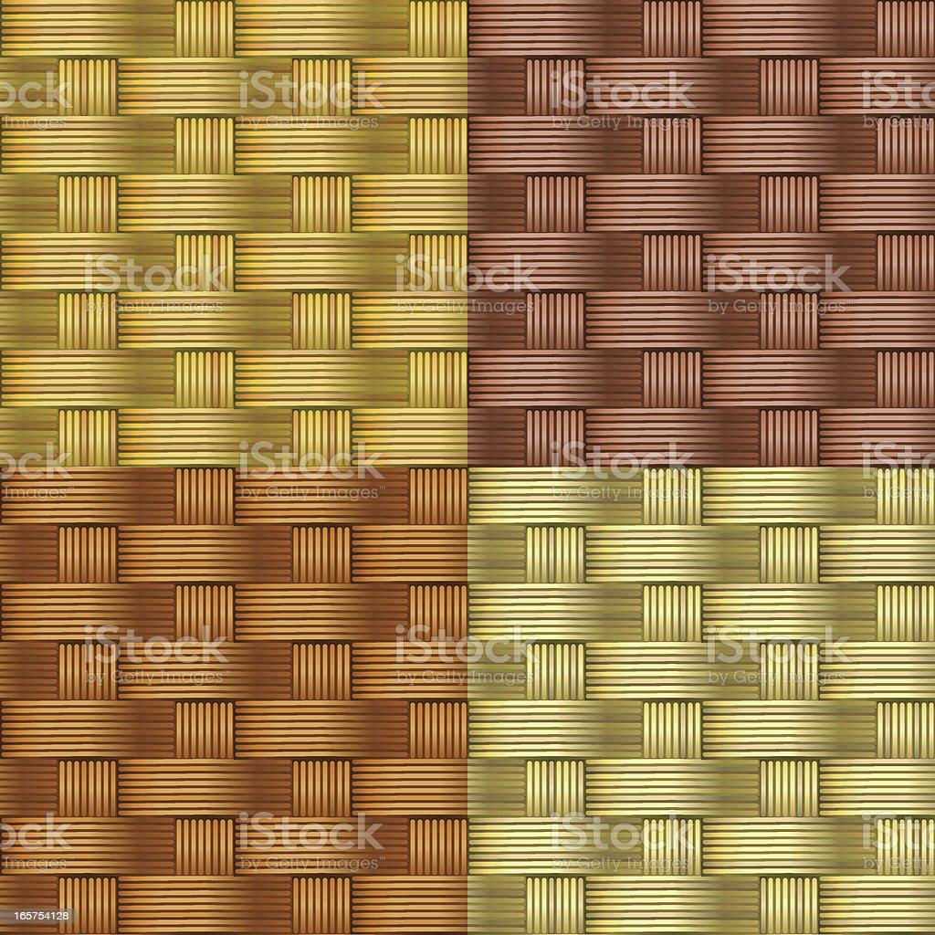 Seamless wicker mat texture royalty-free stock vector art