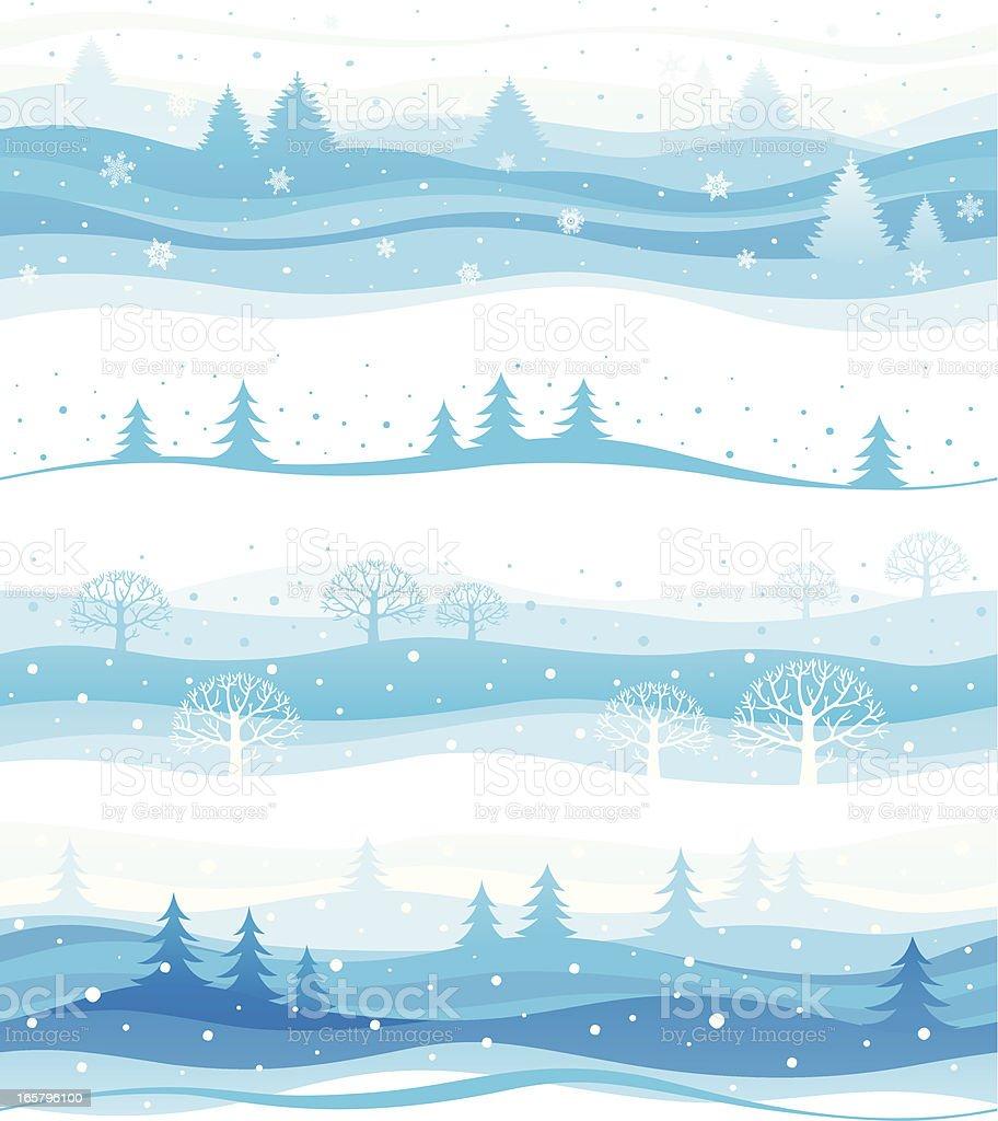 Seamless winter backgrounds vector art illustration