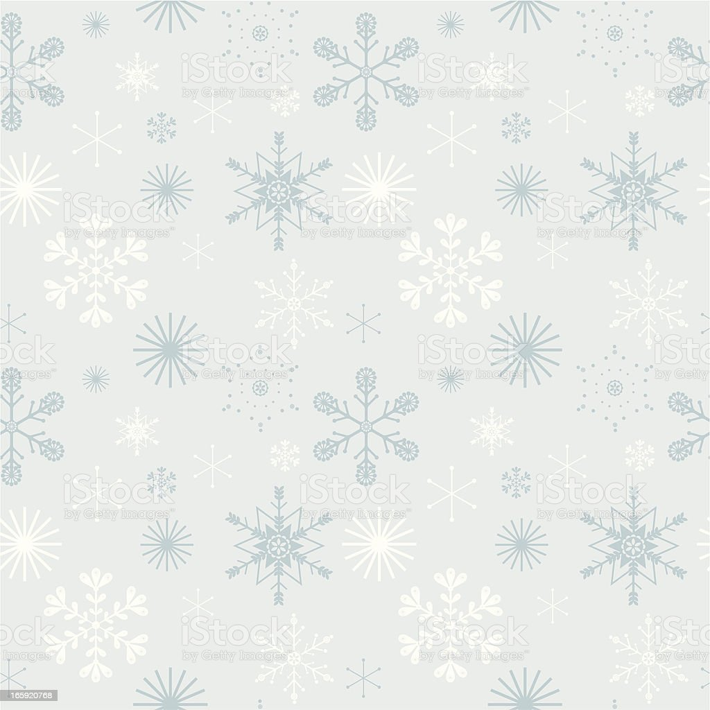 Seamless winter snowflakes background royalty-free stock vector art