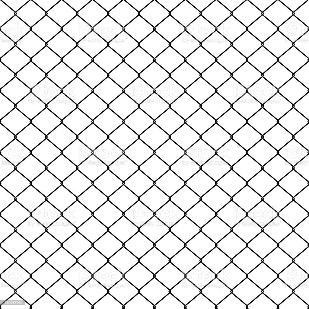 seamless wire fence vector art illustration