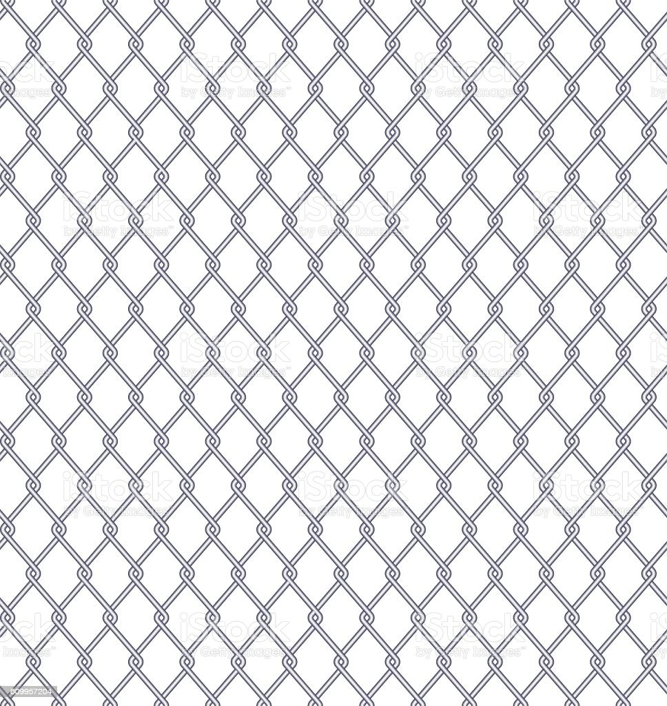 Seamless Wired Fence vector art illustration