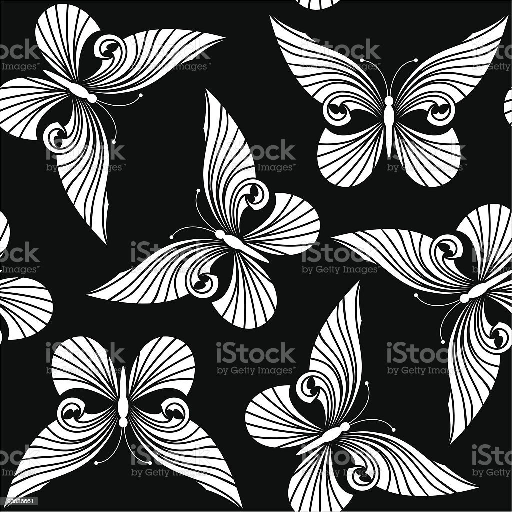 Seamless with butterflies royalty-free stock vector art