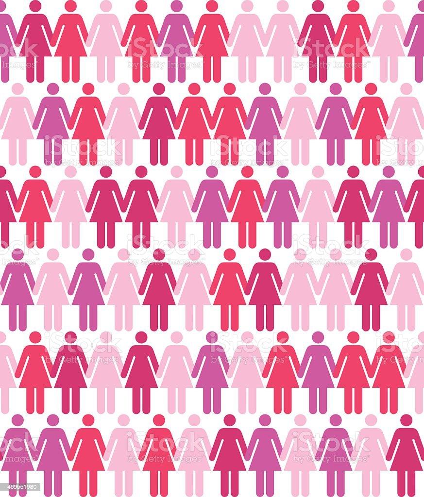 Seamless Women Pattern vector art illustration