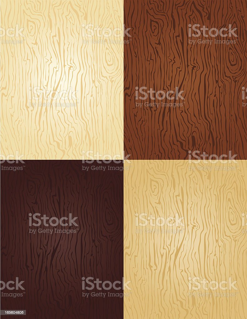 Seamless - wood swatches 4 colors of stain vector art illustration