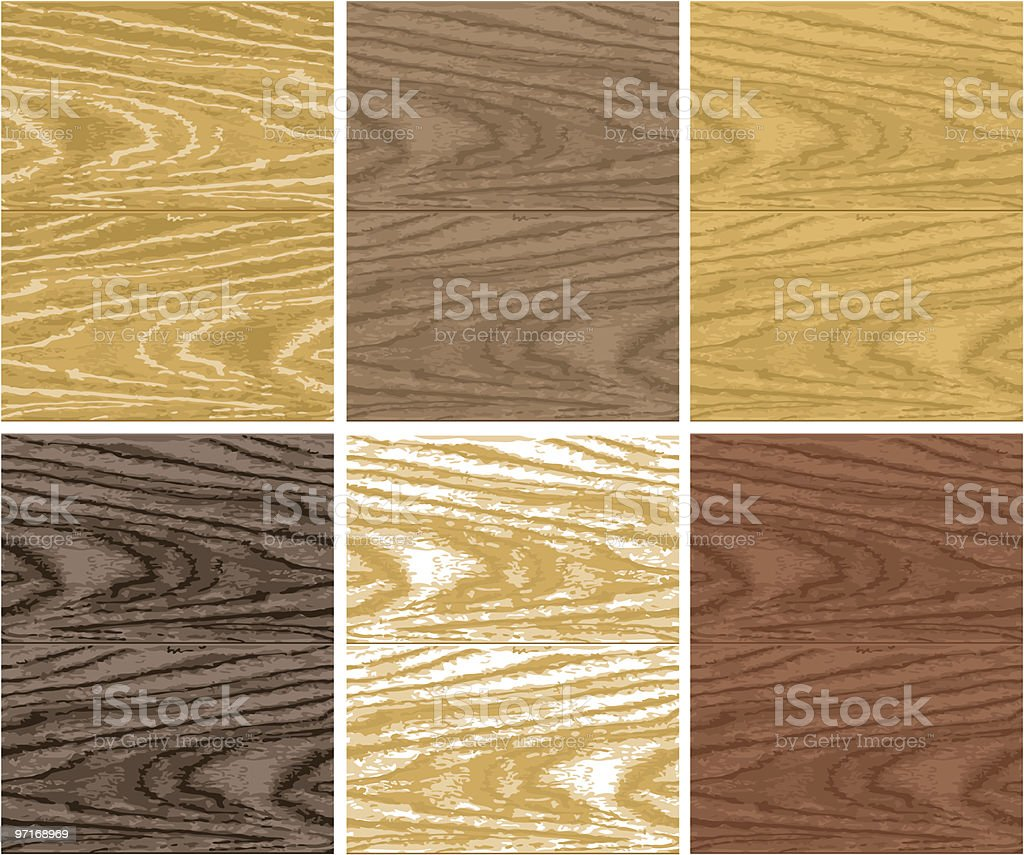 Seamless wooden patterns royalty-free stock vector art