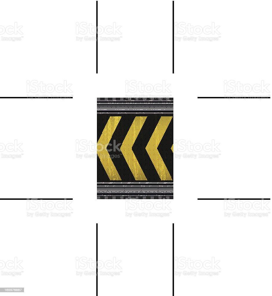 seamless yellow under construction background vector art illustration