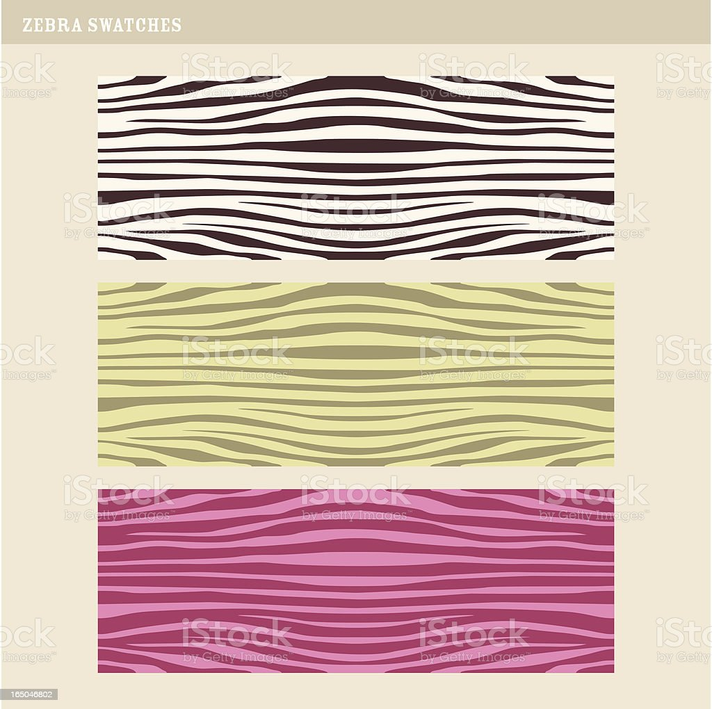 seamless zebra swatches royalty-free stock vector art