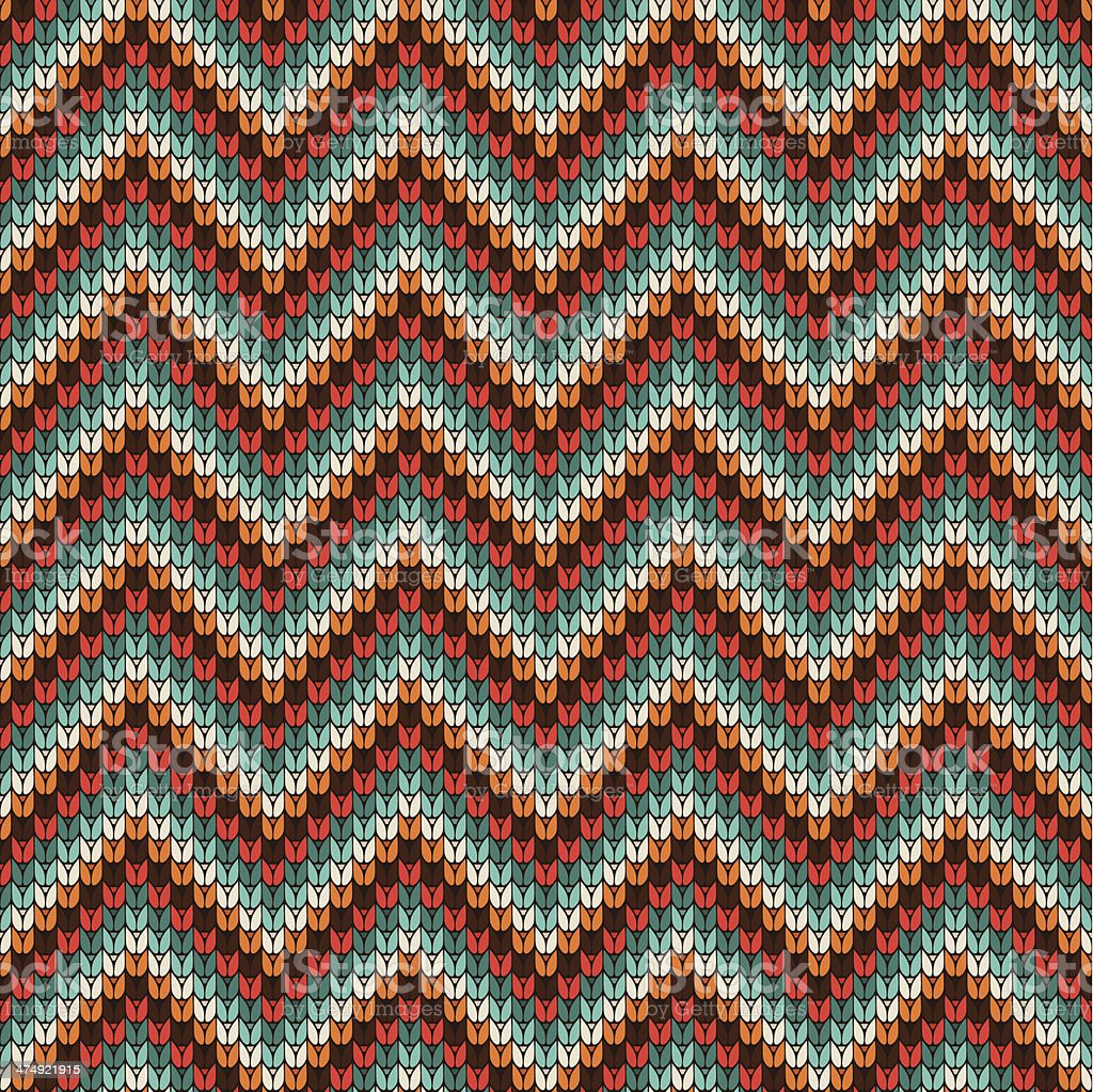 Seamless Zigzag knitting pattern royalty-free stock vector art