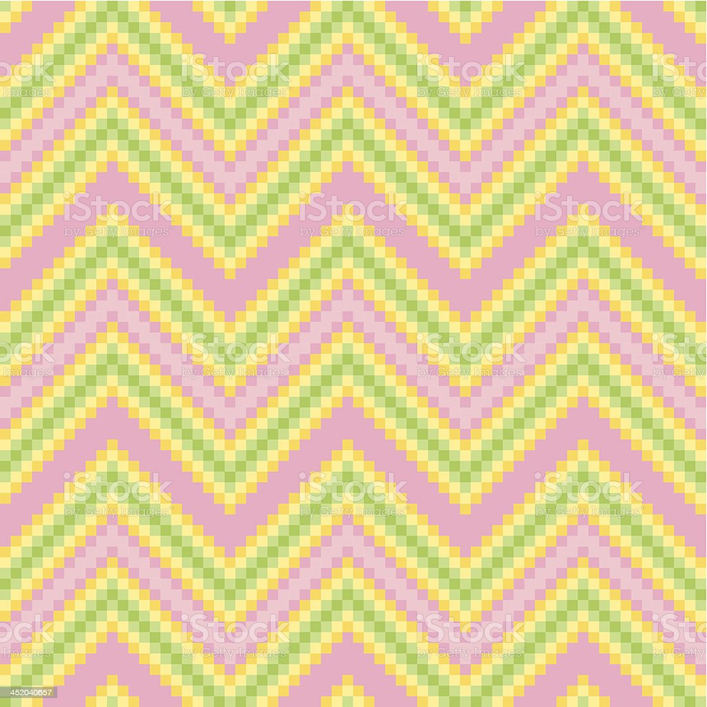 Seamless Zigzag Mosaic pixel pattern royalty-free stock vector art
