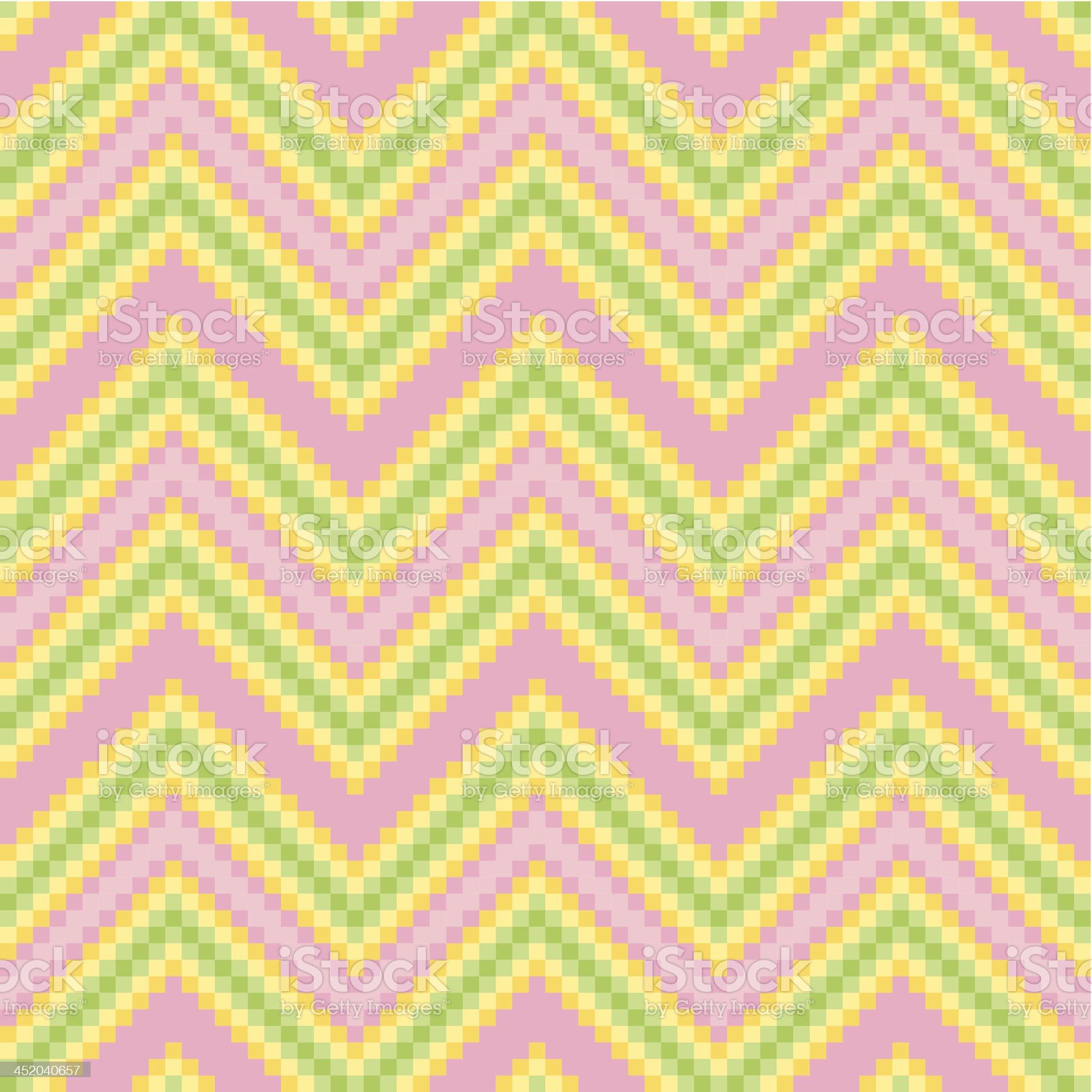 Seamless Zigzag Mosaic pixel pattern royalty-free stock vector art