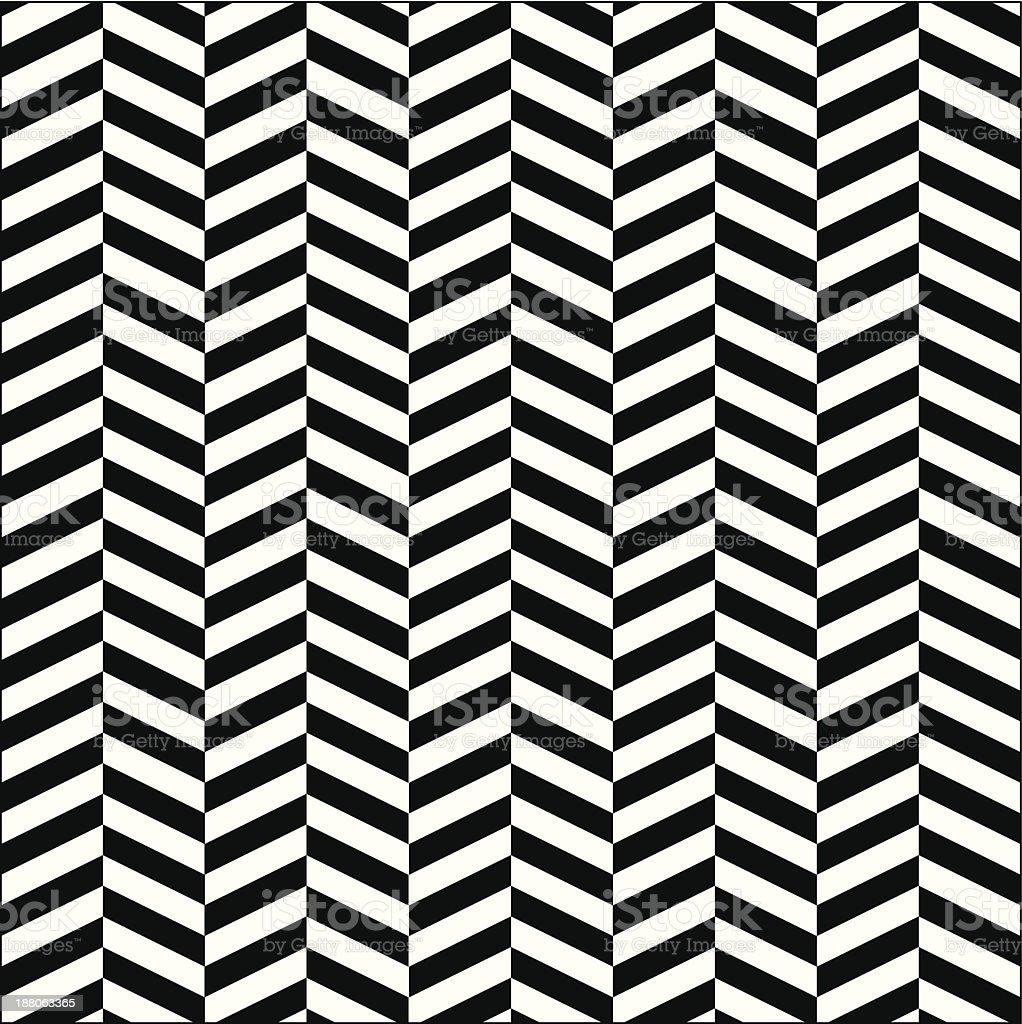 Seamless Zigzag (Chevron) Pattern - Illustration vector art illustration