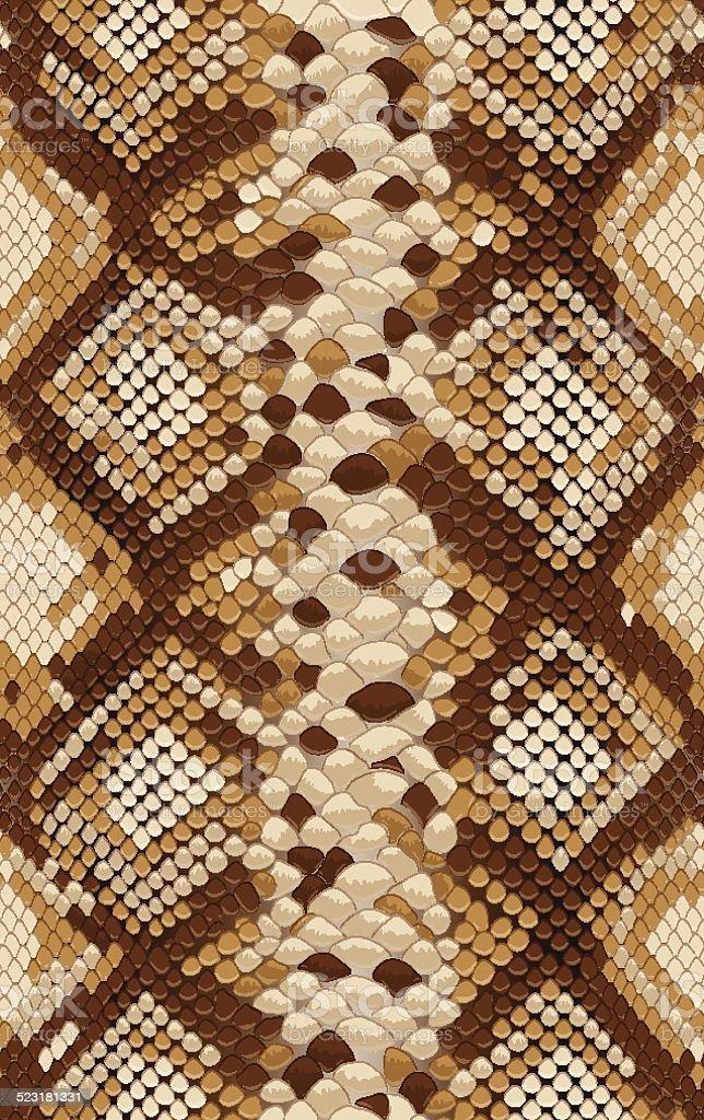 Seamless_vector_snake_skin_texture vector art illustration