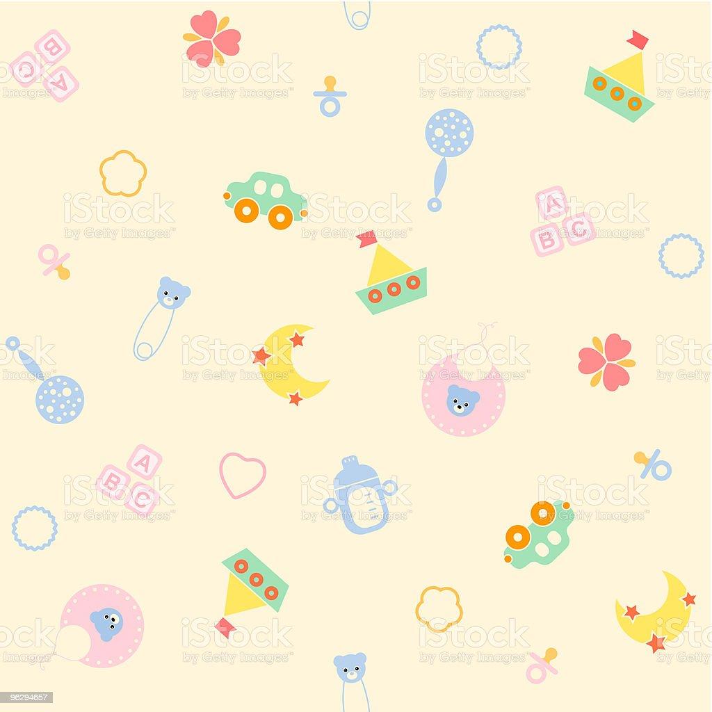 seamless-baby-toy vector art illustration