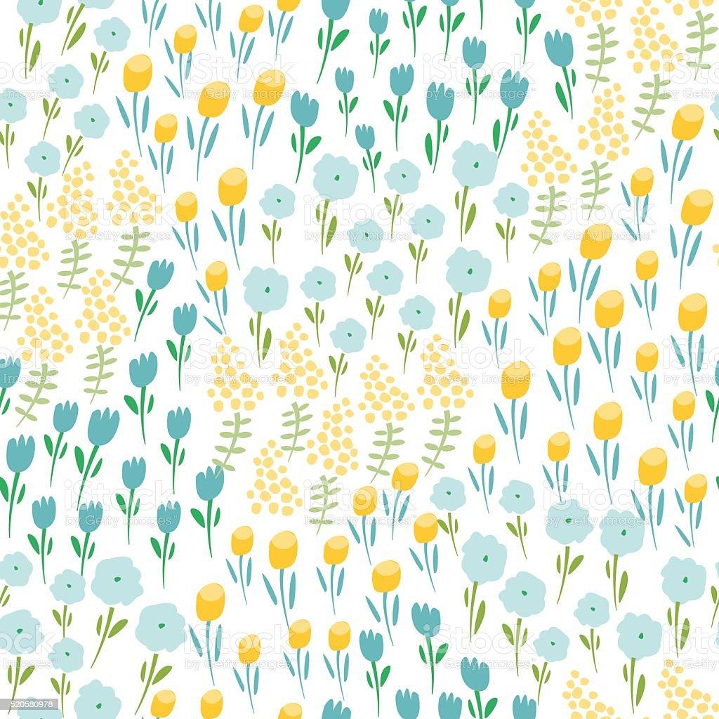 seamlesslightflowers vector art illustration