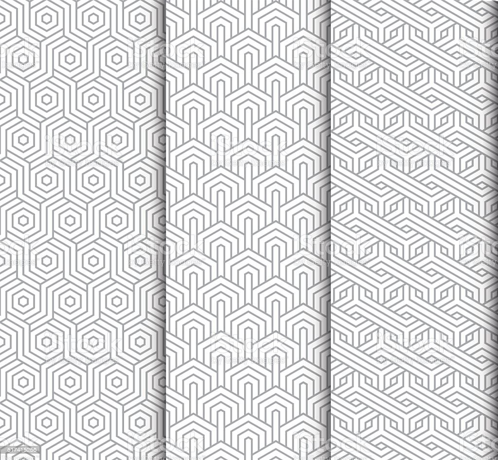 seamlessly geomatric patterns vector art illustration
