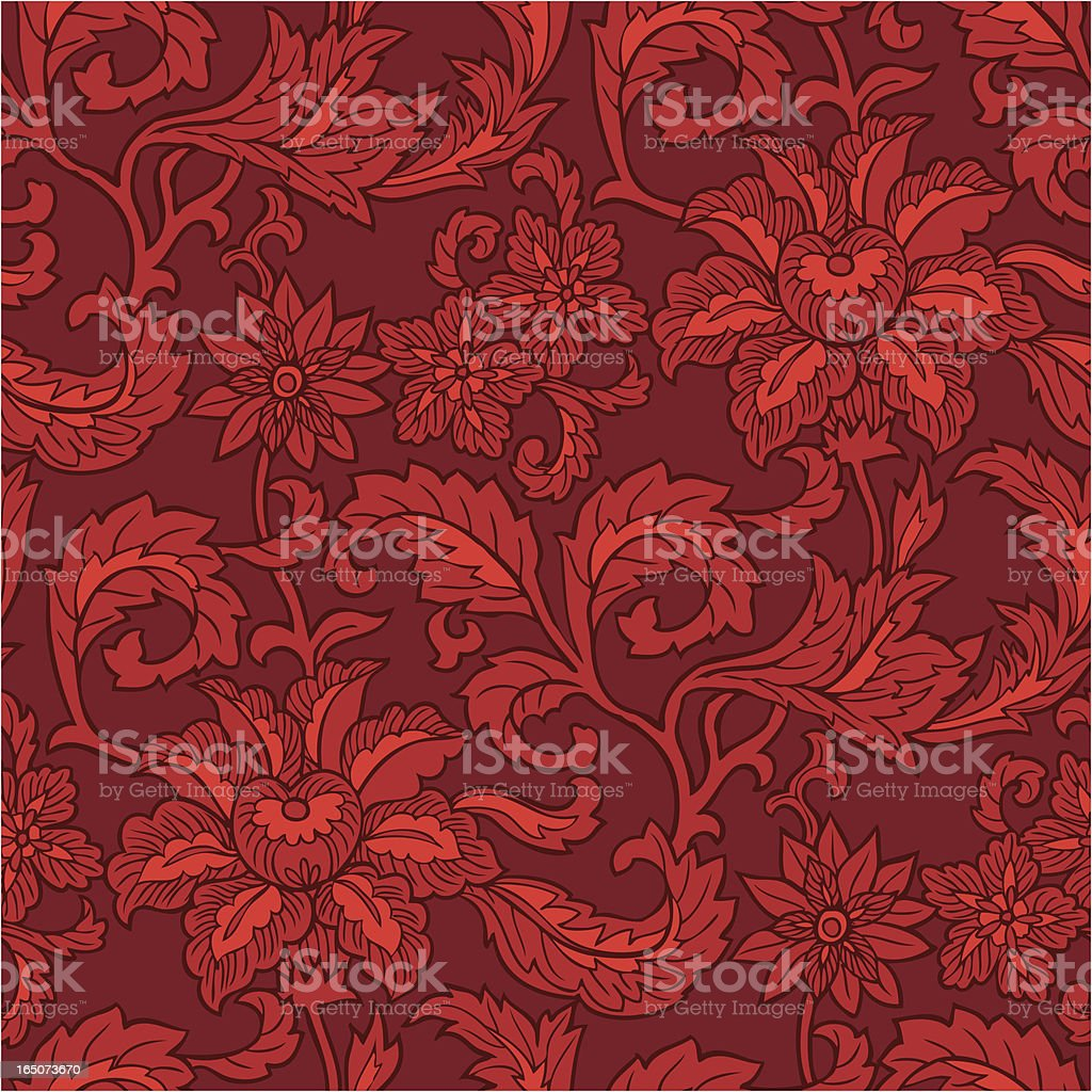 Seamlessly repeating floral pattern. royalty-free stock vector art