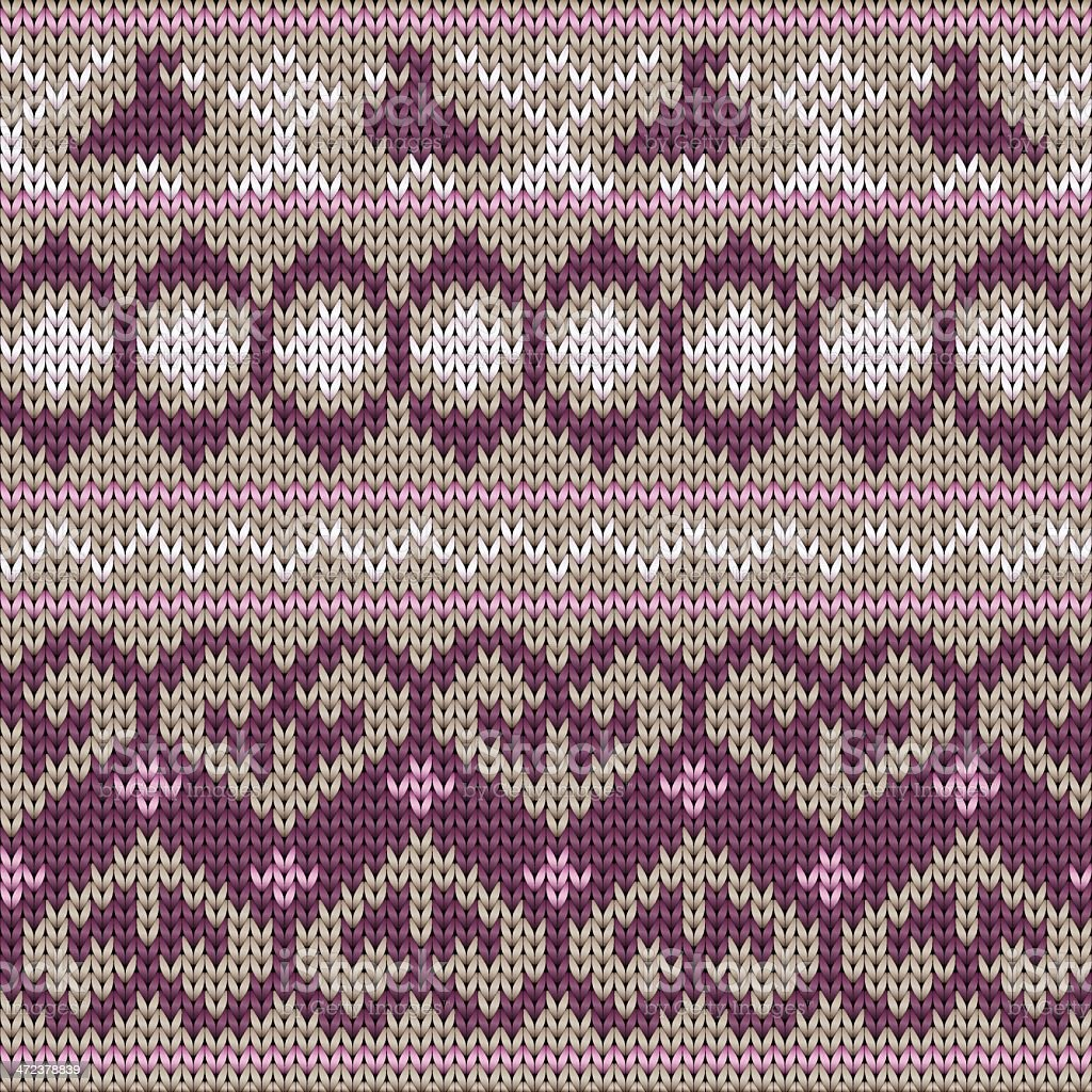 Seamlessly repeating knitted pattern royalty-free stock vector art