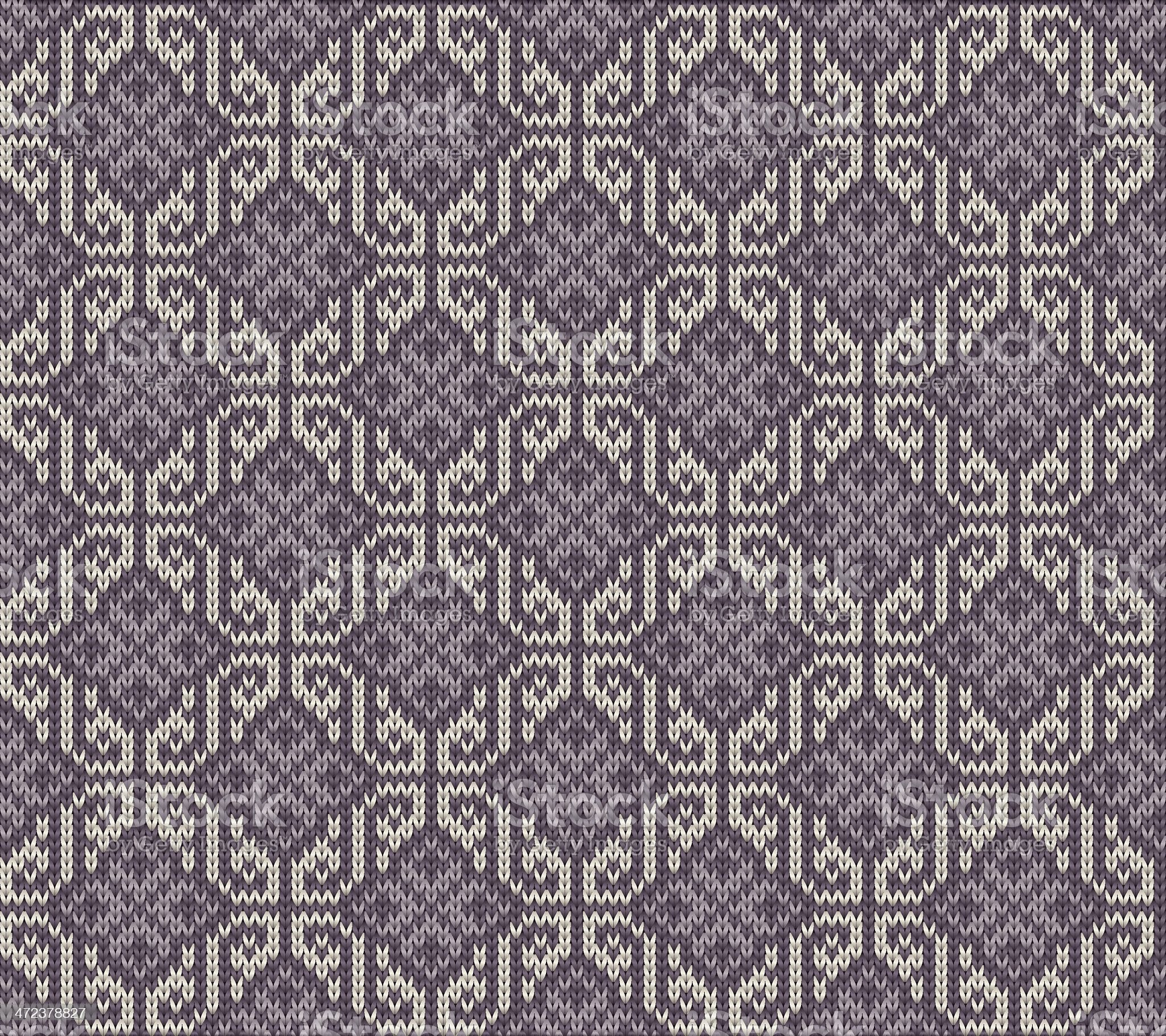 Seamlessly repeating knitting pattern royalty-free stock vector art