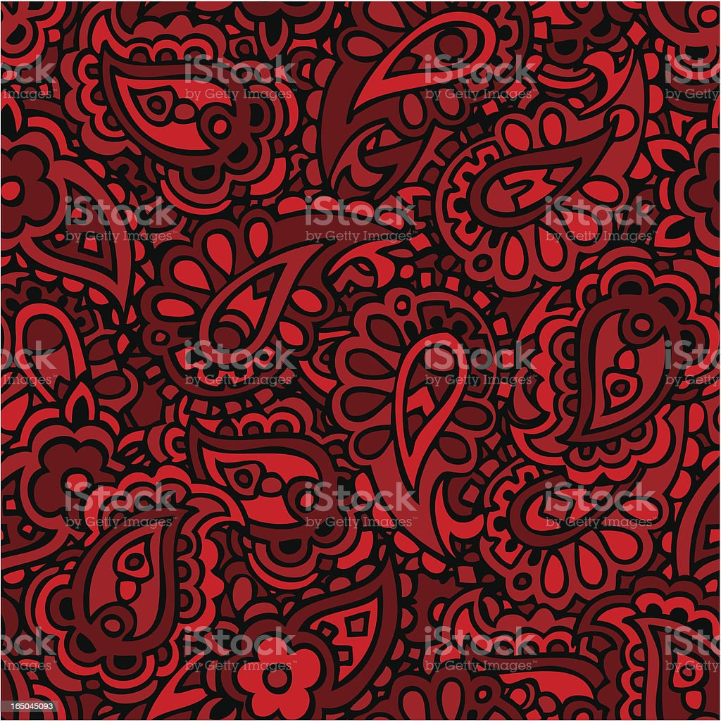 Seamlessly repeating paisley pattern. royalty-free stock vector art