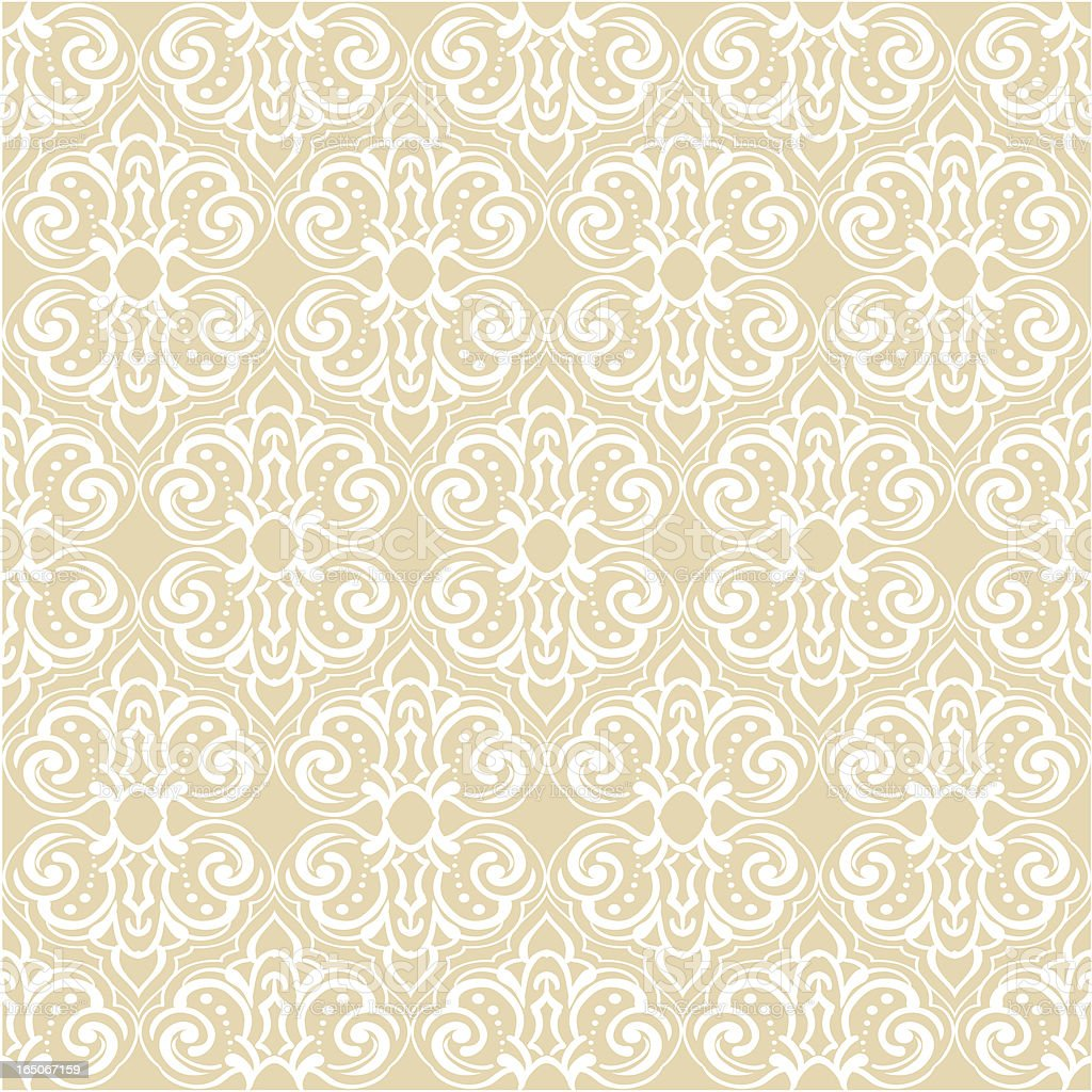 Seamlessly repeating wallpaper pattern. royalty-free stock vector art