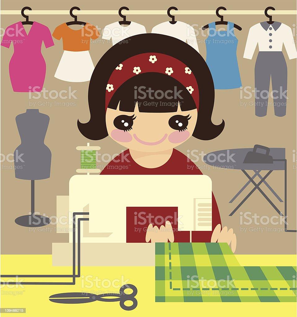 Seamstress. royalty-free stock vector art