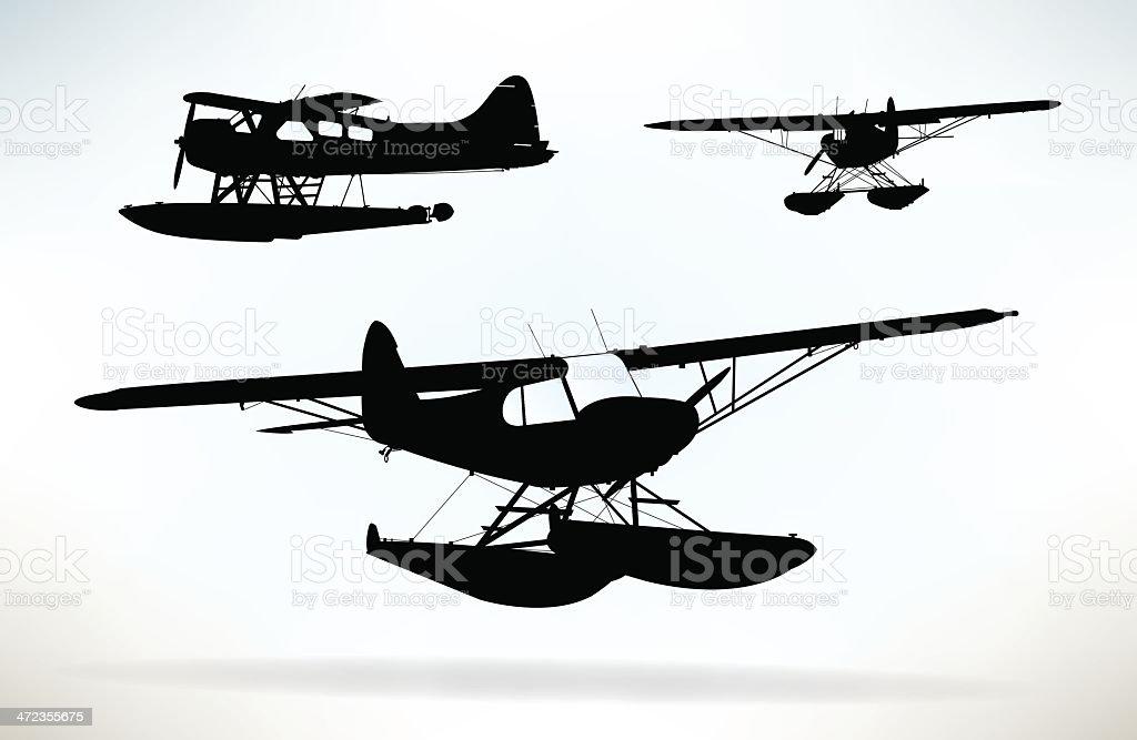 Seaplane - Water Plane royalty-free stock vector art