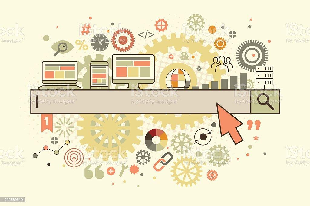 Search box vector art illustration