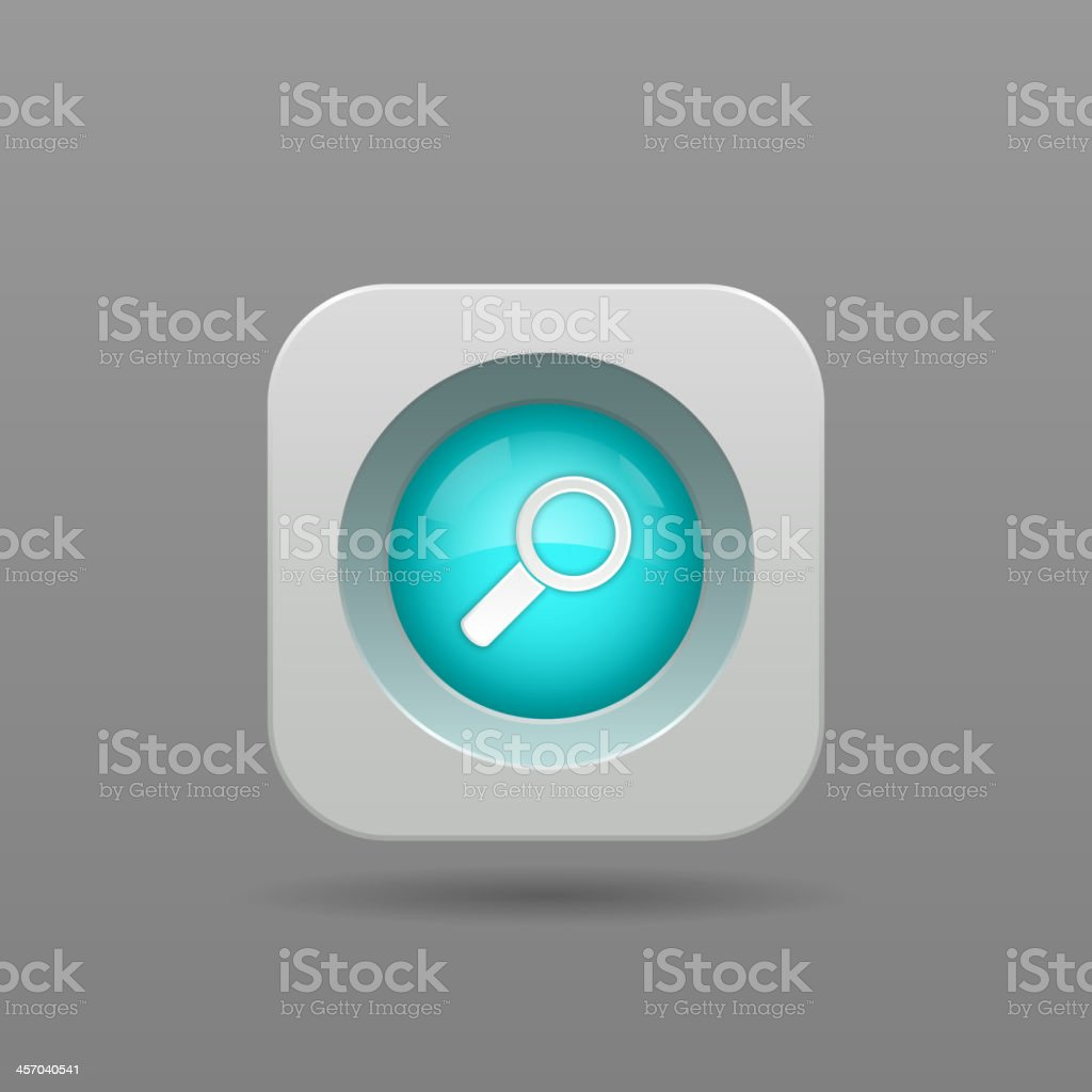 Search button royalty-free stock vector art